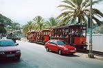 Old-fashioned tram connects the town of Soller and Puerto de Soller